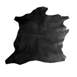 Peau de veau noire pour réparation maroquinerie